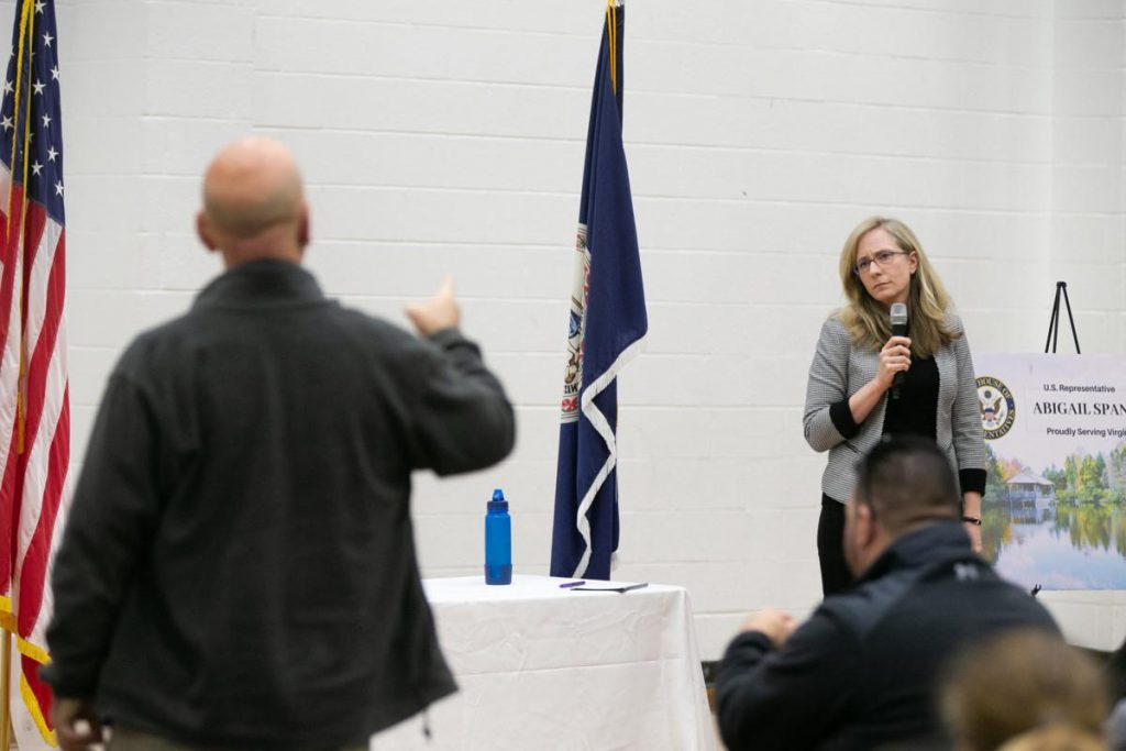 Spanberger Gets Blasted at Town Hall