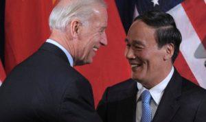 Joe Biden and Wang Qishan