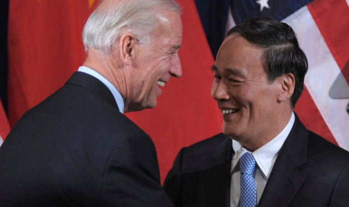Joe Biden and Wang Qishan