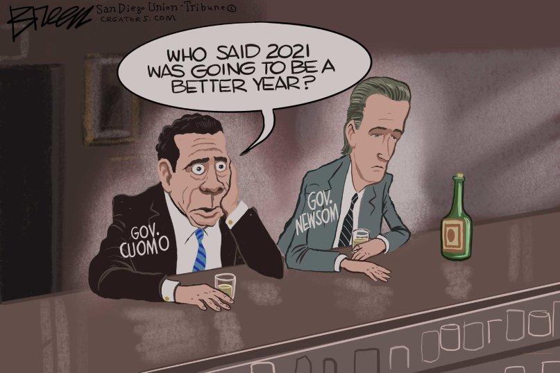 cuomo newsom cartoon