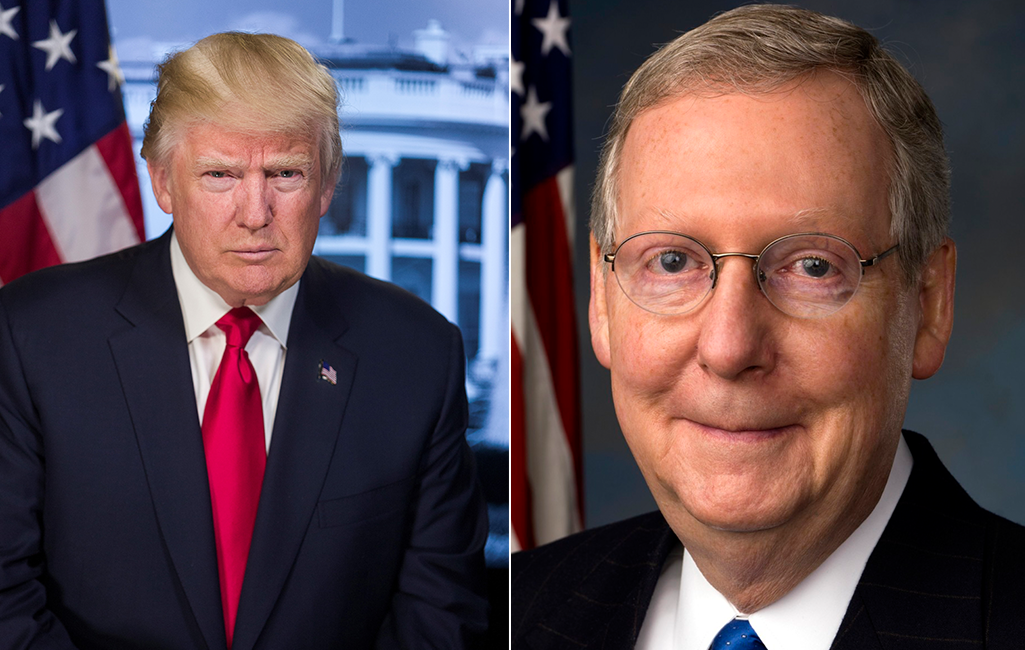 donald trum and mitch mcconnell